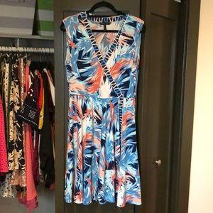 BCBGMAXAZRIA Print Jersey Faux-Wrap Dress